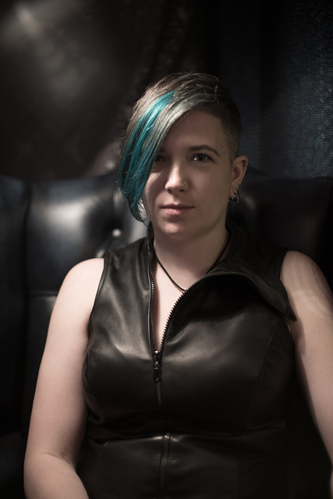 Leather vest Dominatrix