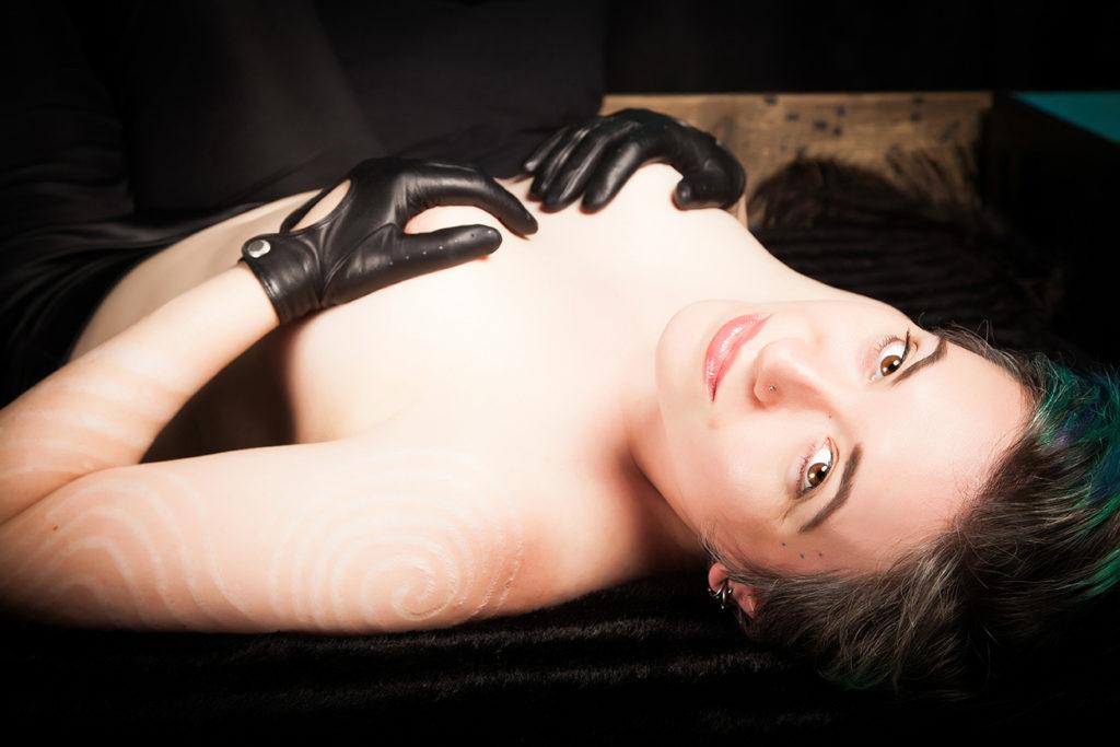 London leather dominatrix tease gloves fetish