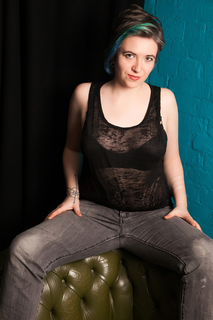 Casual London Mistress in jeans, see through vest