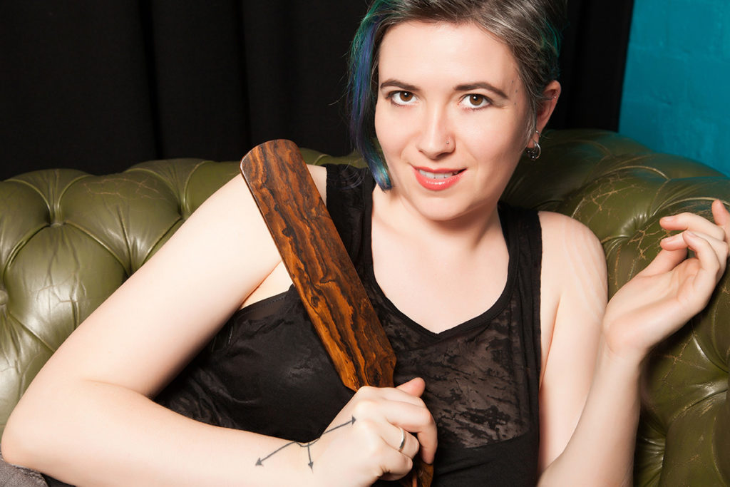 London tease Mistress with wooden paddle